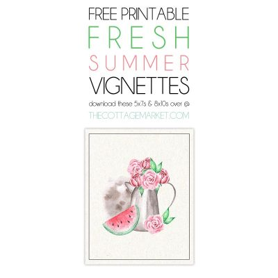Free Printable Fresh Summer Vignettes