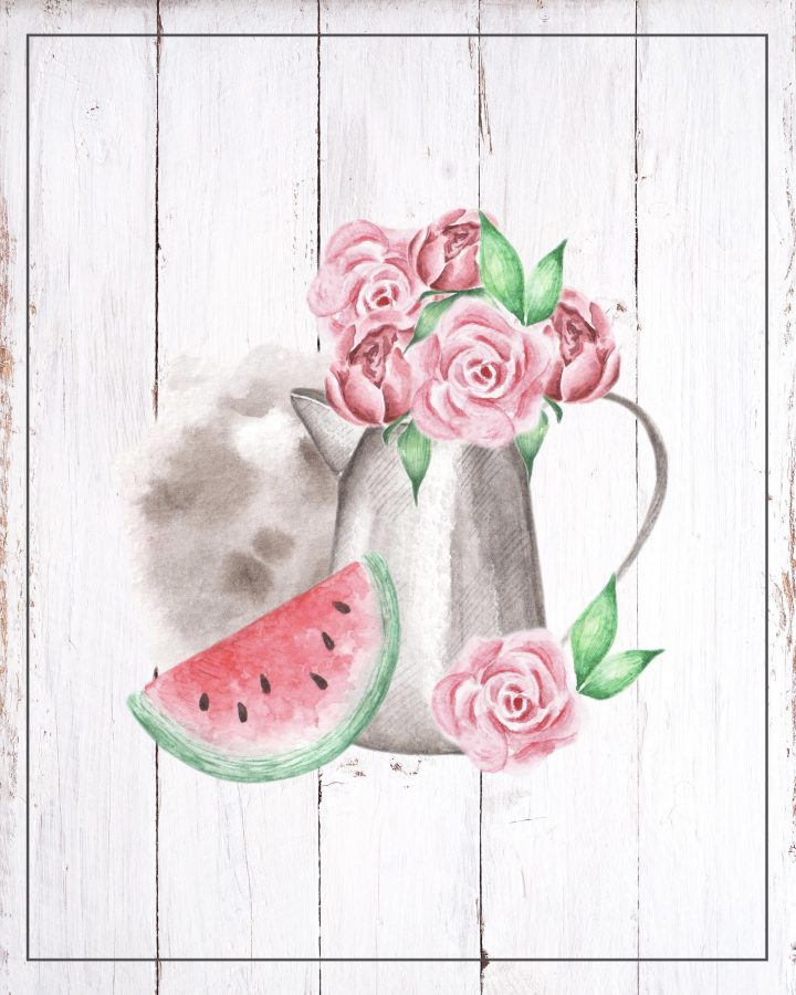 These Free Printable Fresh Summer Vignettes are going to add a touch of Charm to your Kitchen for sure.