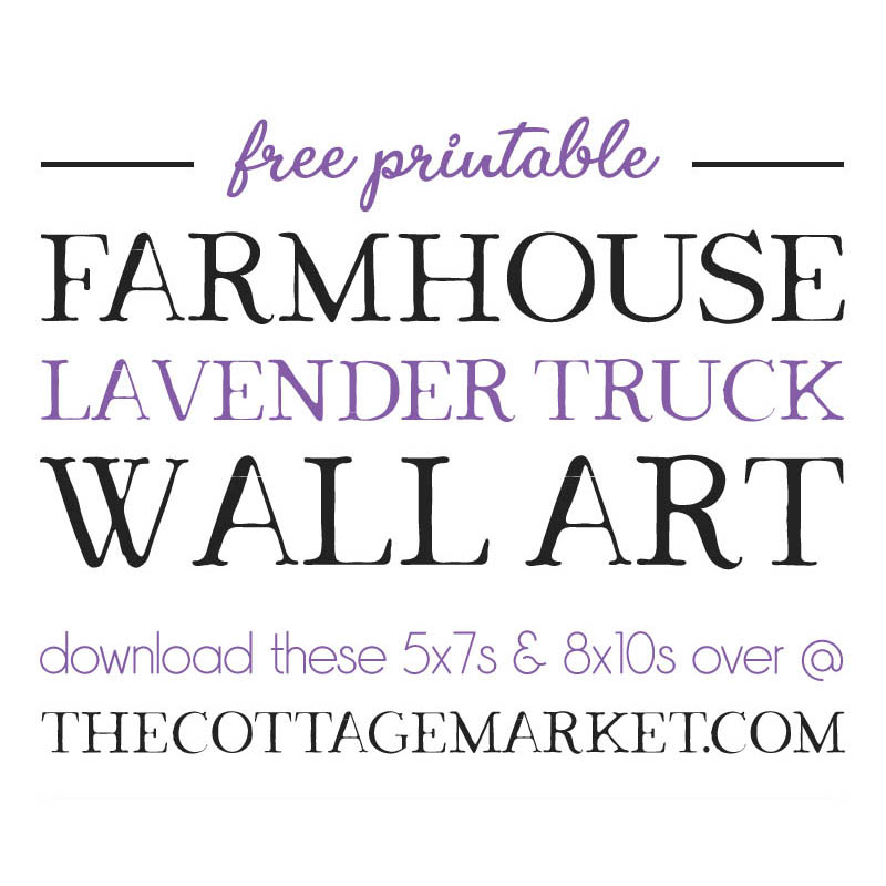 This beautiful Free Printable Farmhouse Lavender Truck Wall Art is going to look amazing on your wall! Just the touch of Summer Freshness you have been looking for!