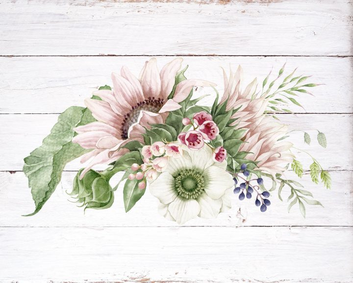Free Printable Farmhouse Botanical Bouquets that will add a touch of Cottage Farmhouse Charm to any space in your home. This is Part 1
