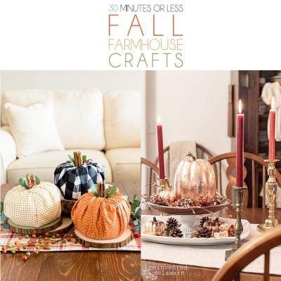 30 Minutes or Less Fall Farmhouse Crafts