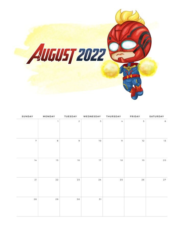 This Free Printable 2022 Avengers Calendar is what is on the Free Printable Menu today! Join, Spider-Man, Captain America, Iron Man and the whole Avengers Gang to stay organized all year long!