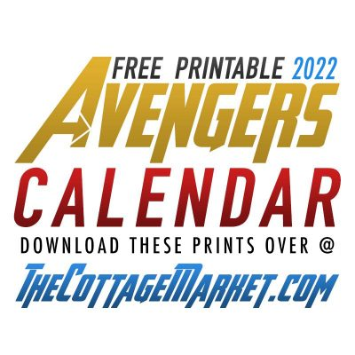 Free Printable 2022 Avengers Calendar