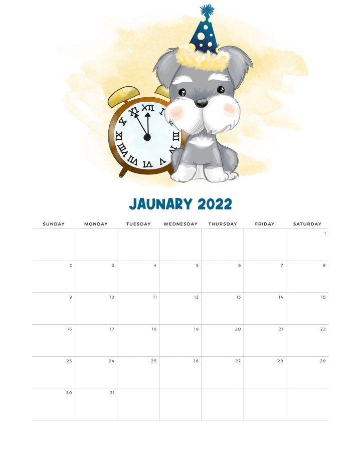 ¡Qué tal un lindo calendario 2022 para perros para imprimir gratis para organizar el Año Nuevo!  ¡Tiene un estilo alegre que sabemos que muchos de ustedes adoran!  ¡Disfrutar!
