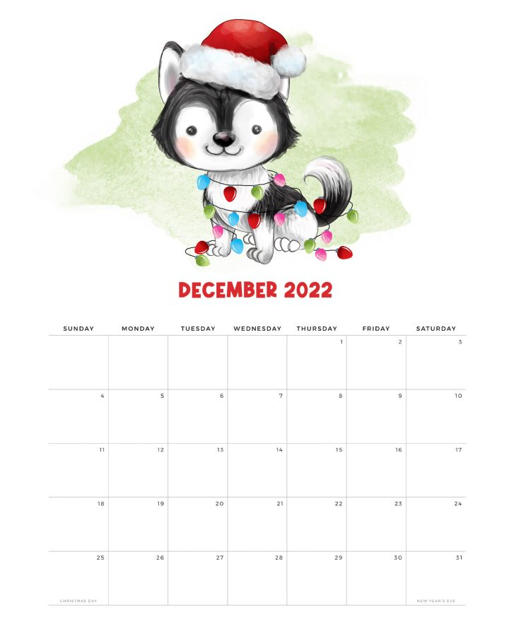 How about a Free Printable 2022 Cute Dog Calendar to get organized for the New Year! It has a happy style we know so many of you adore! Enjoy!