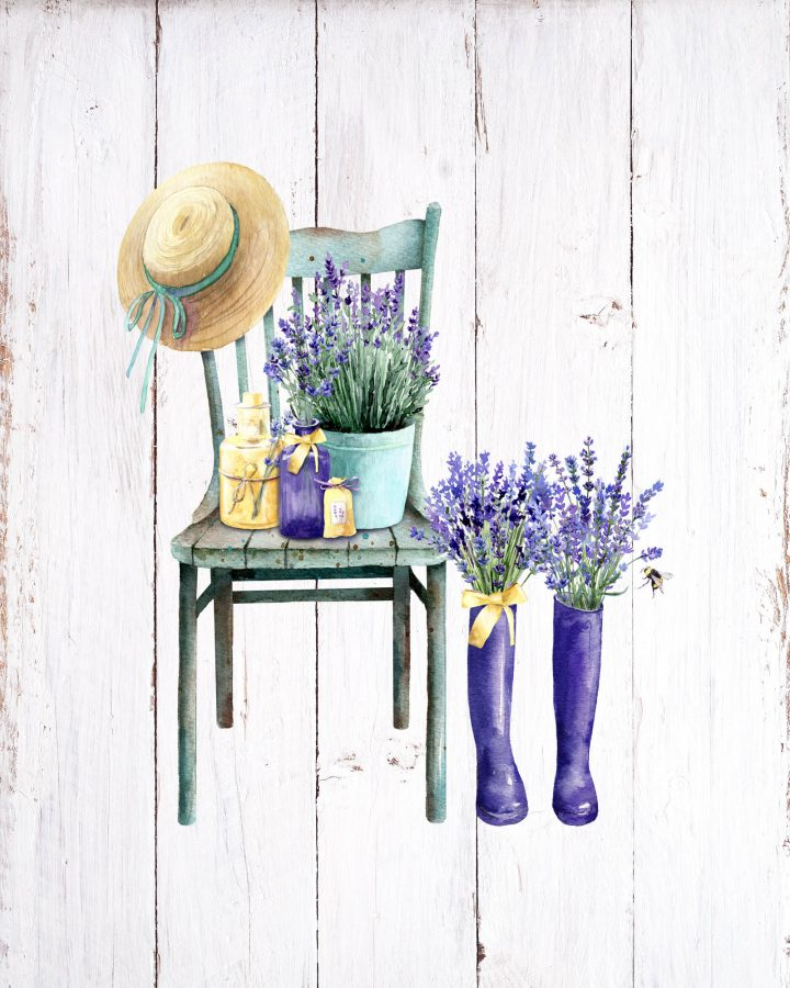 These Free Printable French Farmhouse Lavender Vignettes are going to add a touch of Charm and Fun to your Home!