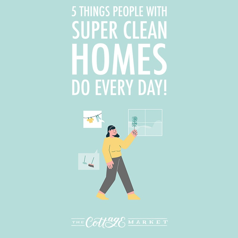 If you are looking for some tips on how to keep your Home nice and clean... these 5 things people with super clean homes do every day will give you a really good start!