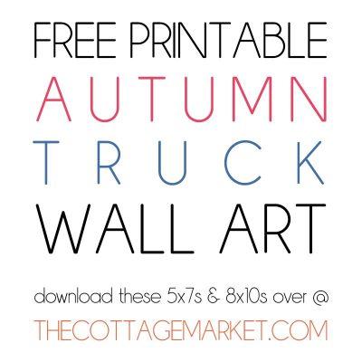 Free Printable Autumn Truck Wall Art