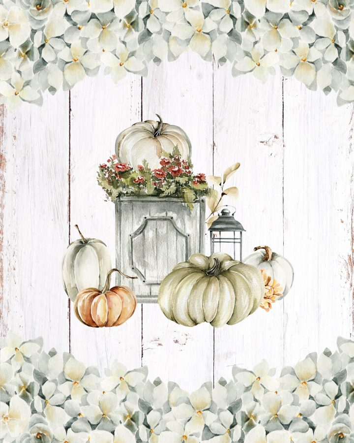These Free Printable Farmhouse Autumn Vignettes are going to add a touch of Charm and Fun to your Home!