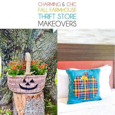 Charming and Chic Fall Farmhouse Thrift Store Makeovers