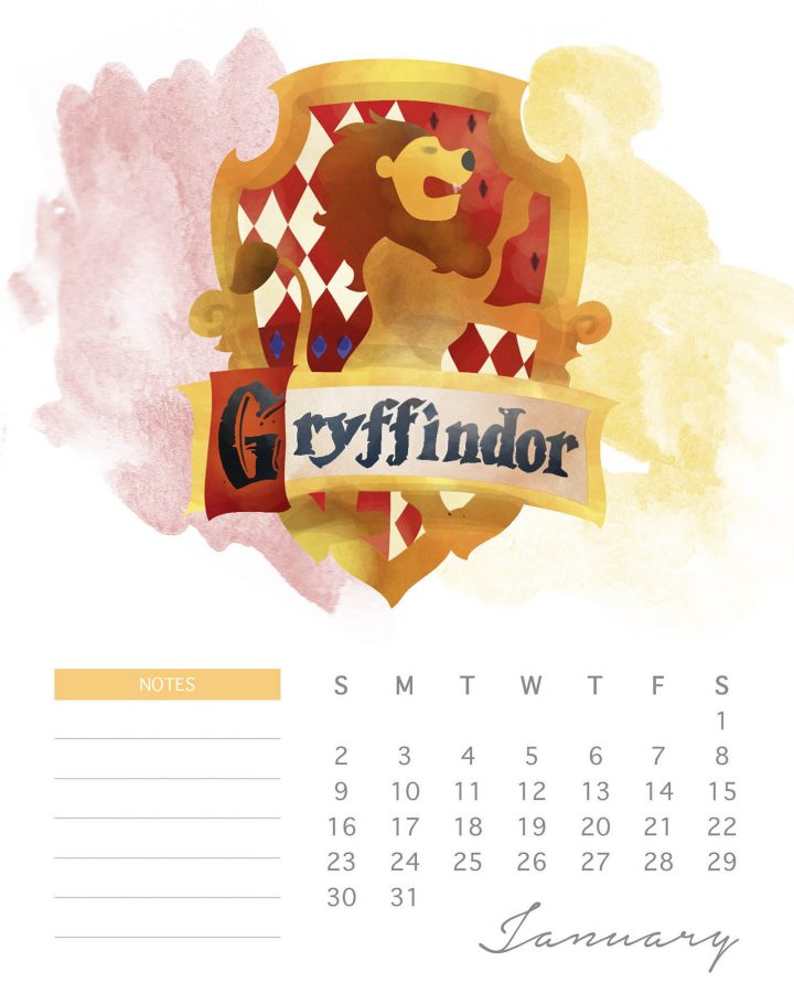A Magical Free Printable 2022 Harry Potter Calendar is just what you need to get you organized for 2022! Mark those important dates and even write notes!