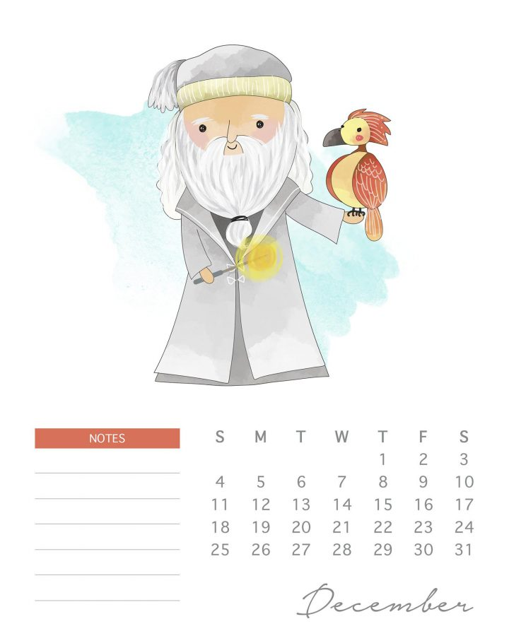 A Whimsical Free Printable 2022 Harry Potter Calendar is just what you need to get you organized for 2022! Mark those important dates and even write notes!