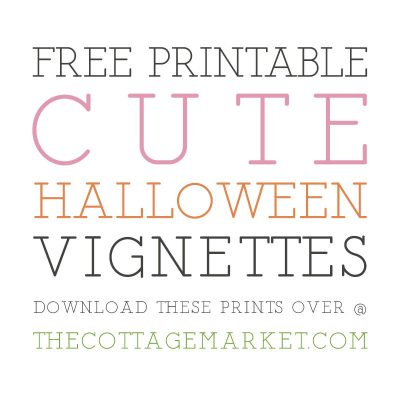 Free Printable Cute Halloween Vignettes