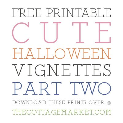 FREE PRINTABLE CUTE HALLOWEEN VIGNETTES PART TWO
