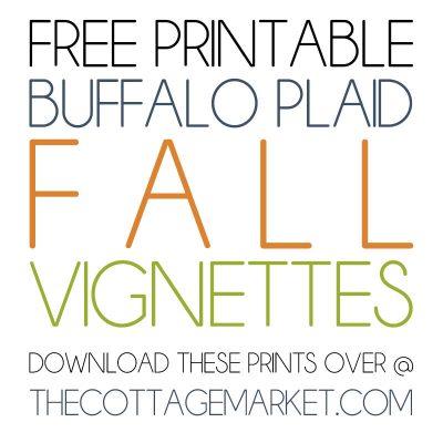 Free Printable Buffalo Plaid Fall Vignettes