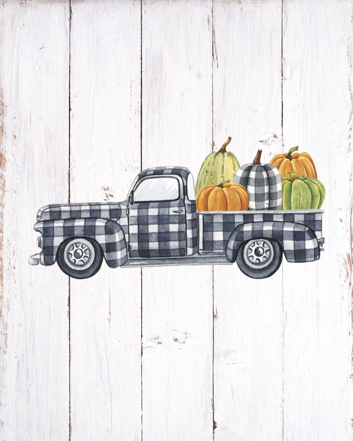 These Free Printable Buffalo Plaid Fall Vignettes are going to add a touch of Charm and Fun to your Home!