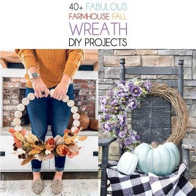40+ Fabulous Farmhouse Fall Wreath DIY Projects