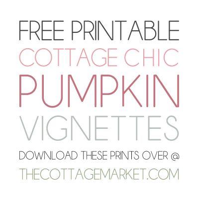 Free Printable Cottagecore Pumpkin Vignettes