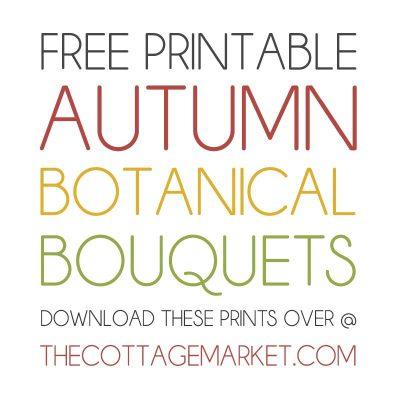 Free Printable Autumn Botanical Bouquets