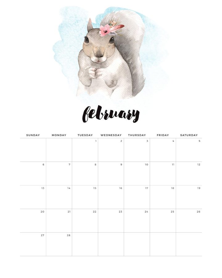 Come and get a head start on the new year with this Free Printable 2022 Watercolor Animal Calendar. This Water Color Animal Calendar will get you organized early!