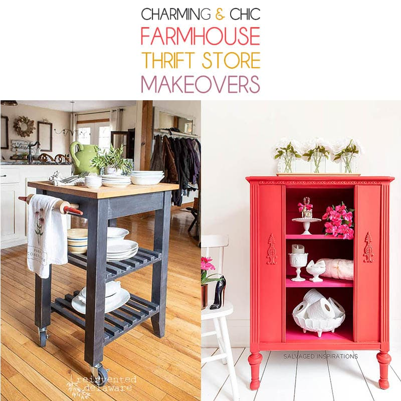 Charming and Chic Farmhouse Thrift Store Makeovers are going to Inspire you to create your own original diy project that will be amazing!