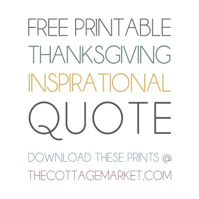 Free Printable Thanksgiving Inspirational Quote