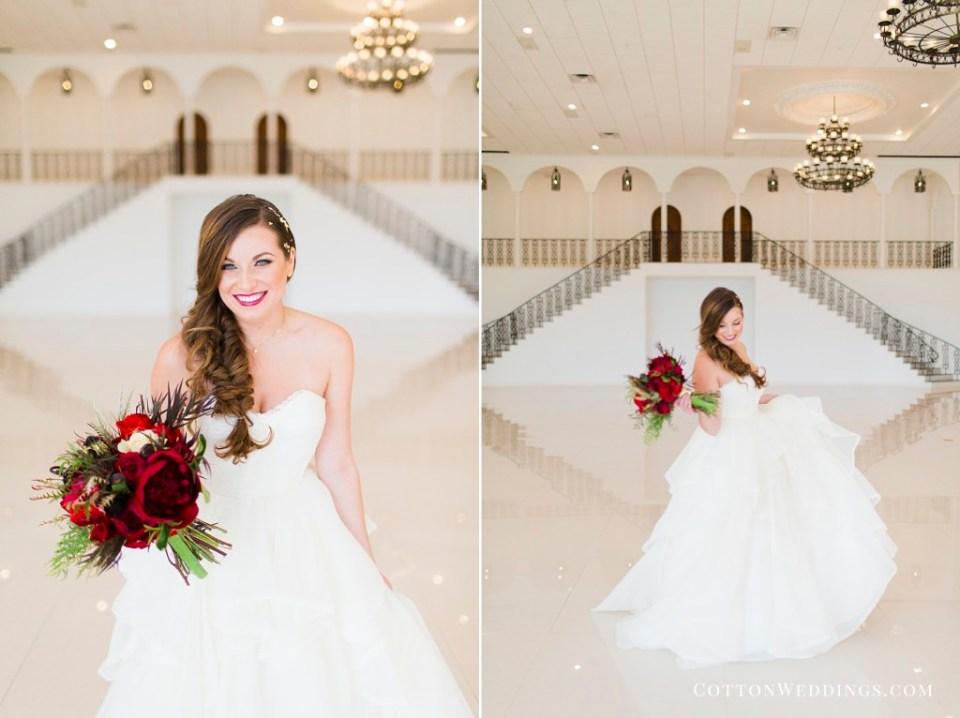 Modern Romantic Wedding bride twirling in dress