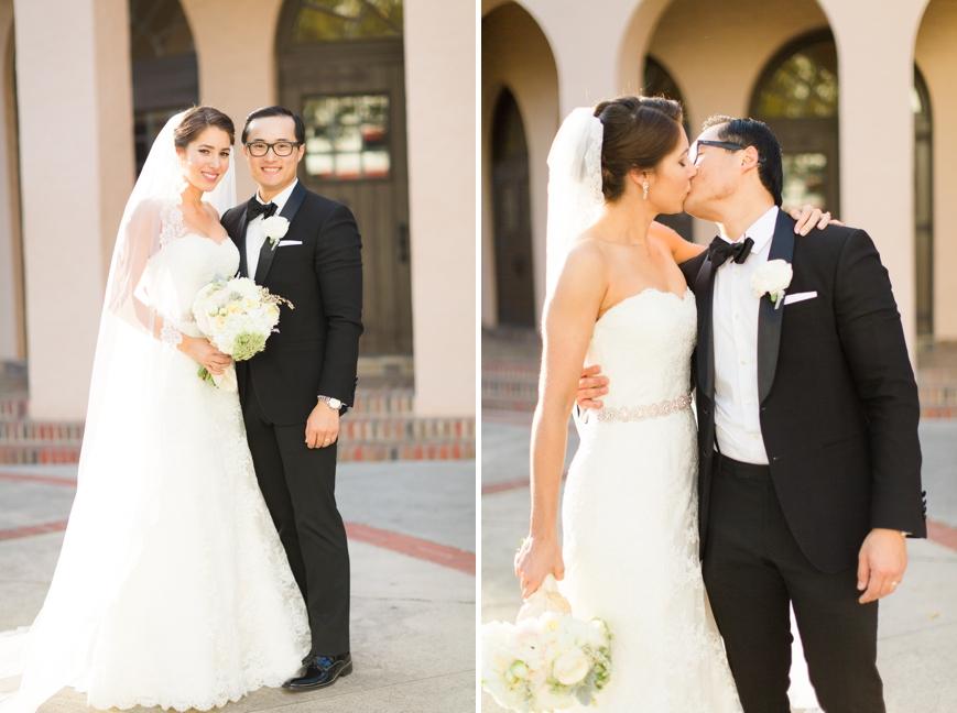 houston parador wedding bride and groom