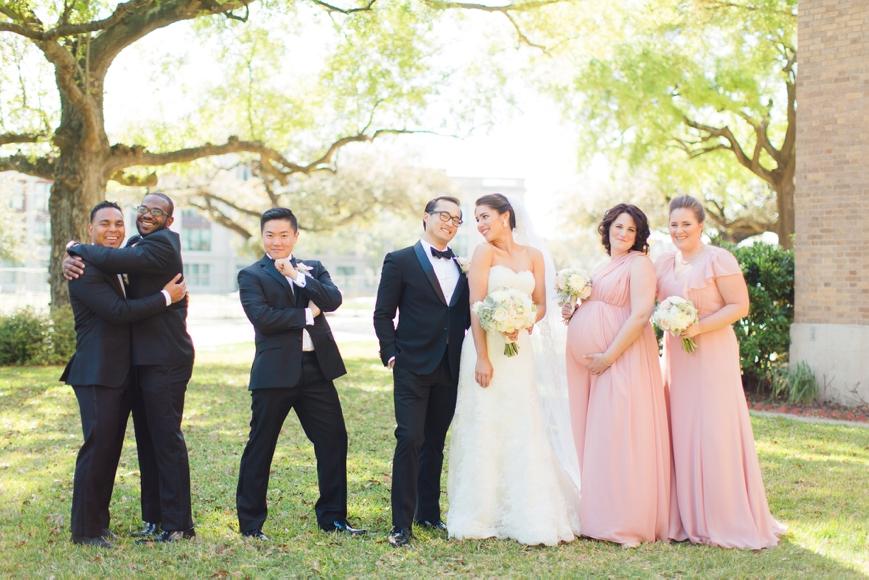 funny bridal party photo goofy