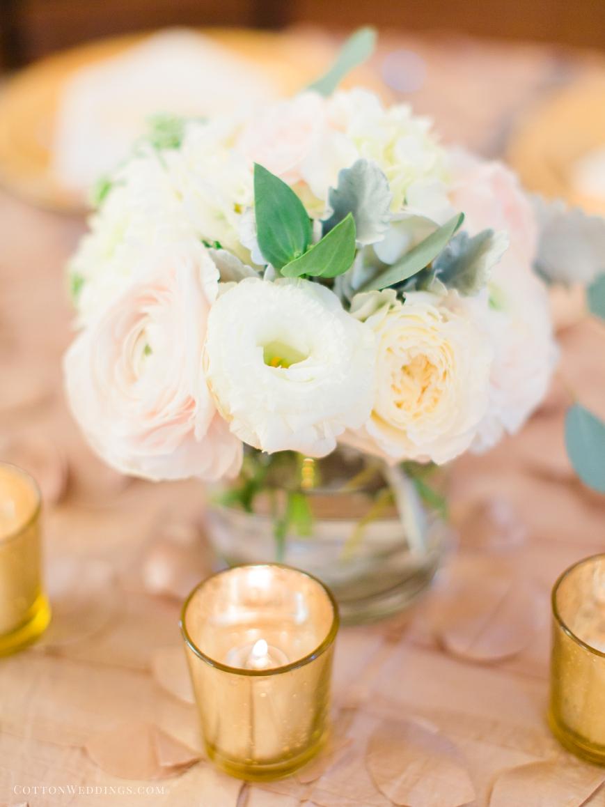 pastel florals reception table decor