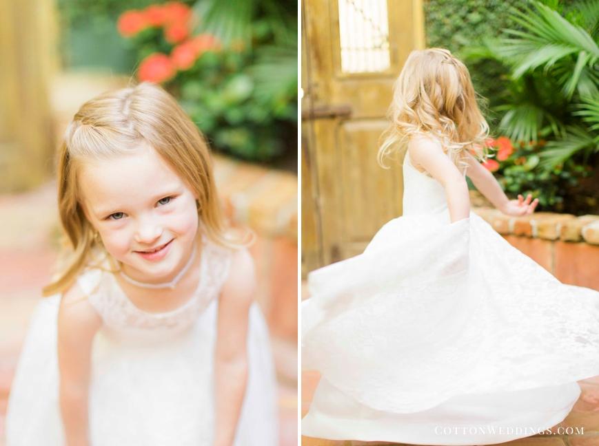 flower girl twirling in dress