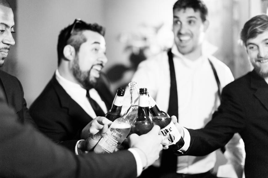 groomsmen toasting to groom