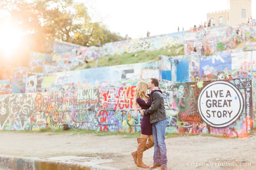 graffiti park engagement photo