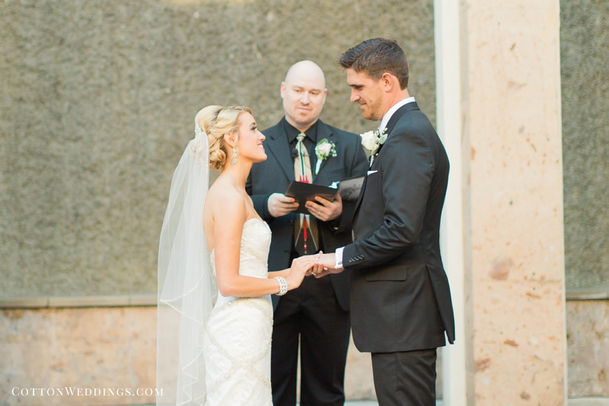water wall wedding ceremony