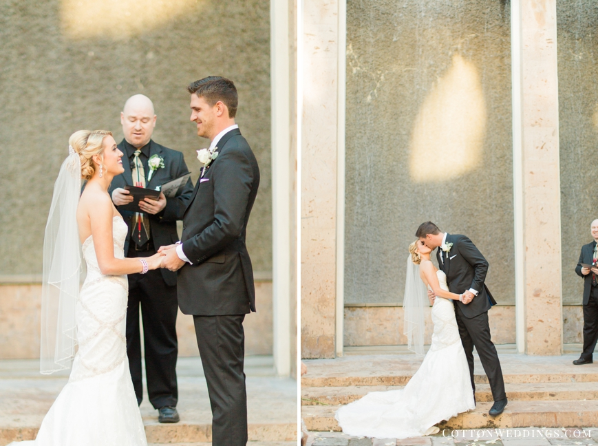 belltower on 34th water wall ceremony first kiss