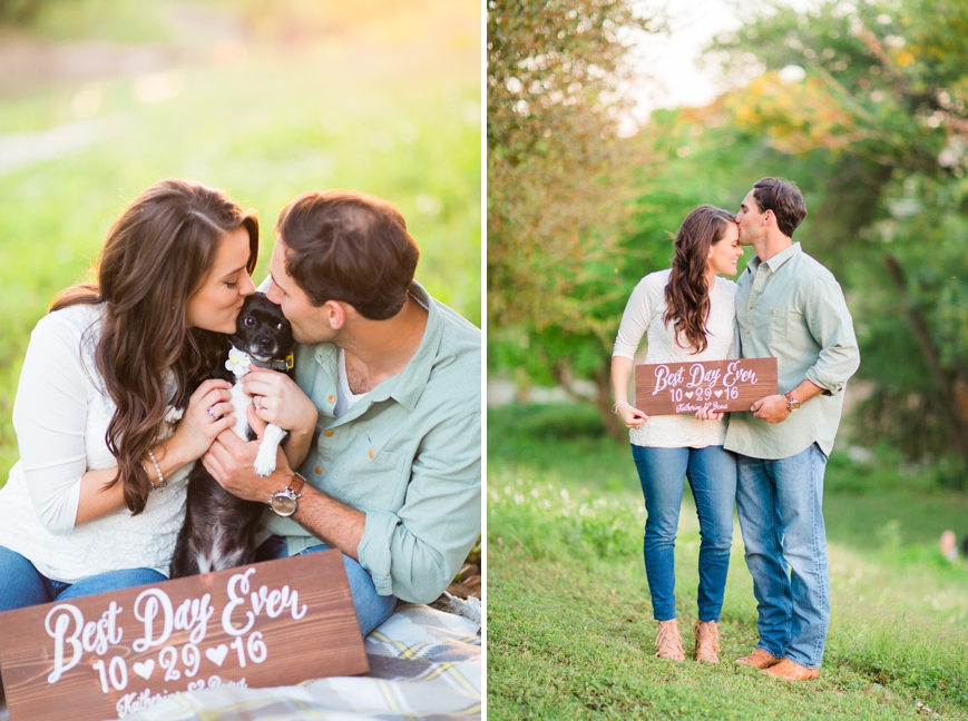 custom save the date sign with dog