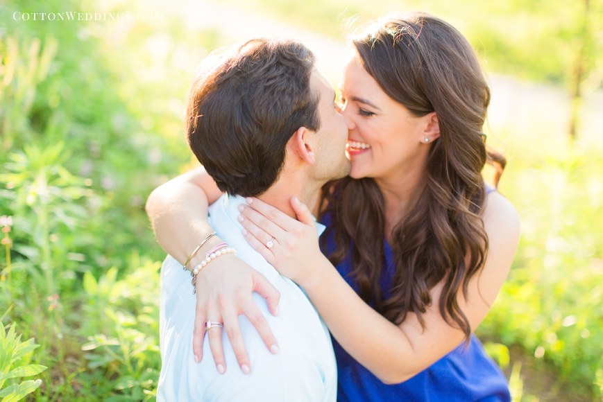 happy couple in love engagement session