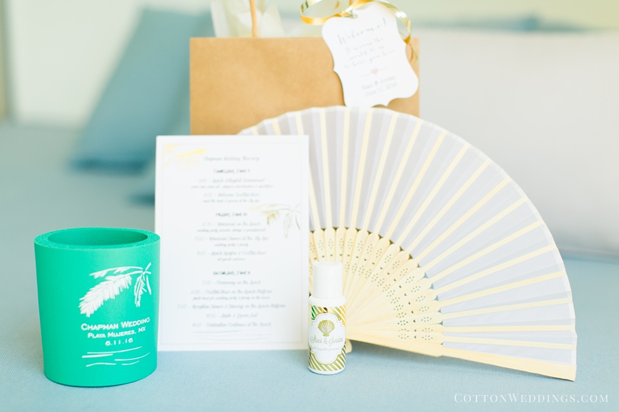 welcome package destination wedding cancun