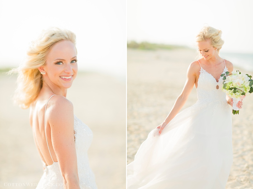 bridal portraits on beach in Cancun
