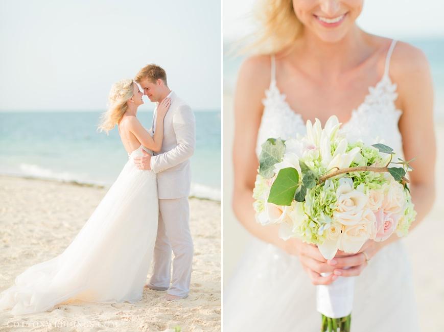 bride and groom destination beach wedding