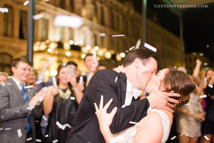 confetti exit wedding