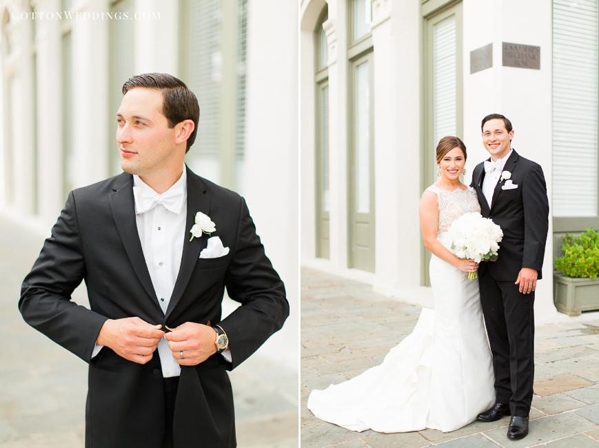 classic handsome black tux groom