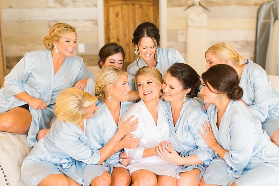big sky barn wedding girls getting ready