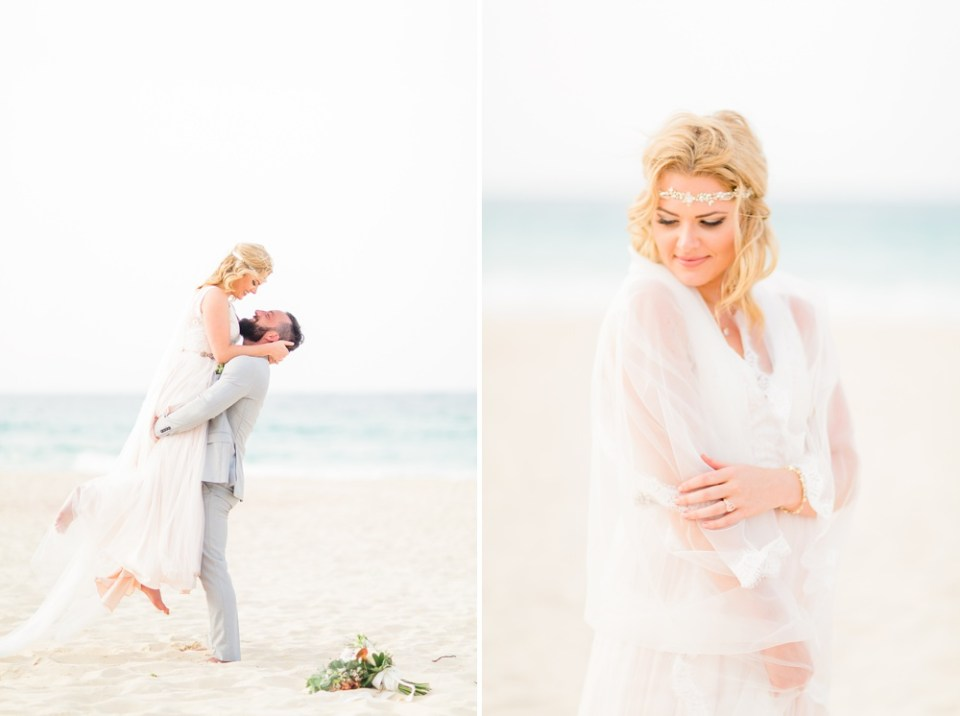 beach destination elopement