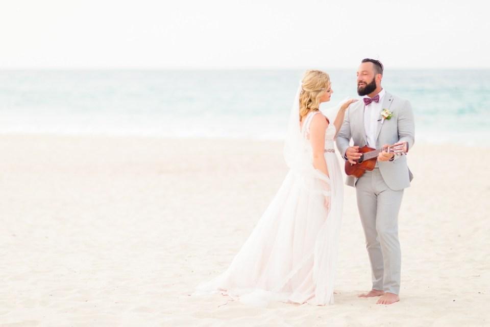 beach destination elopement
