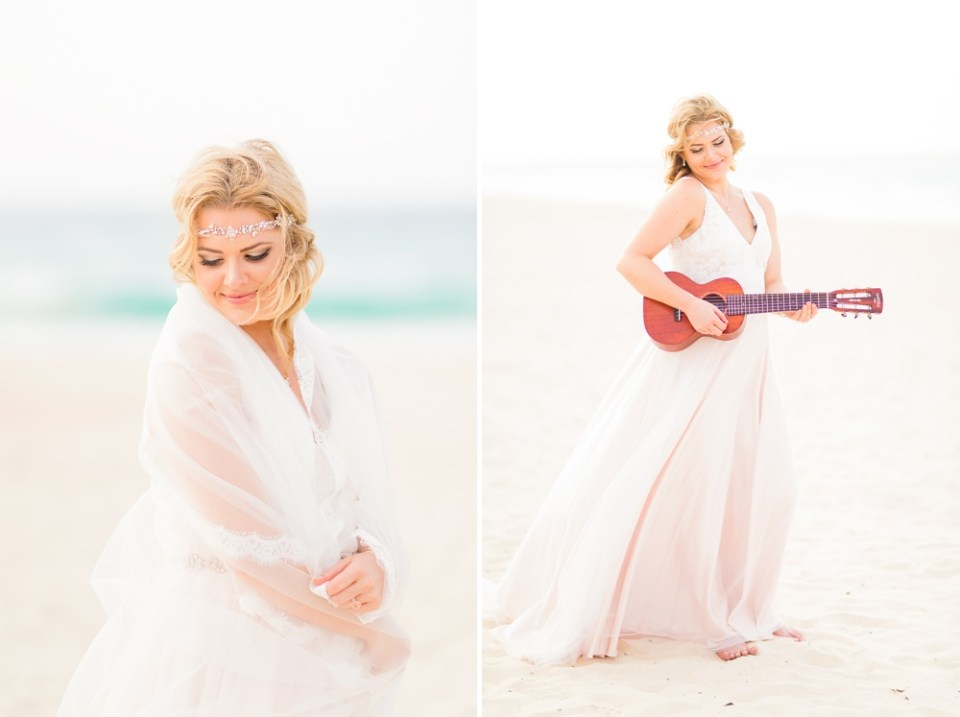 beach bridal portraits