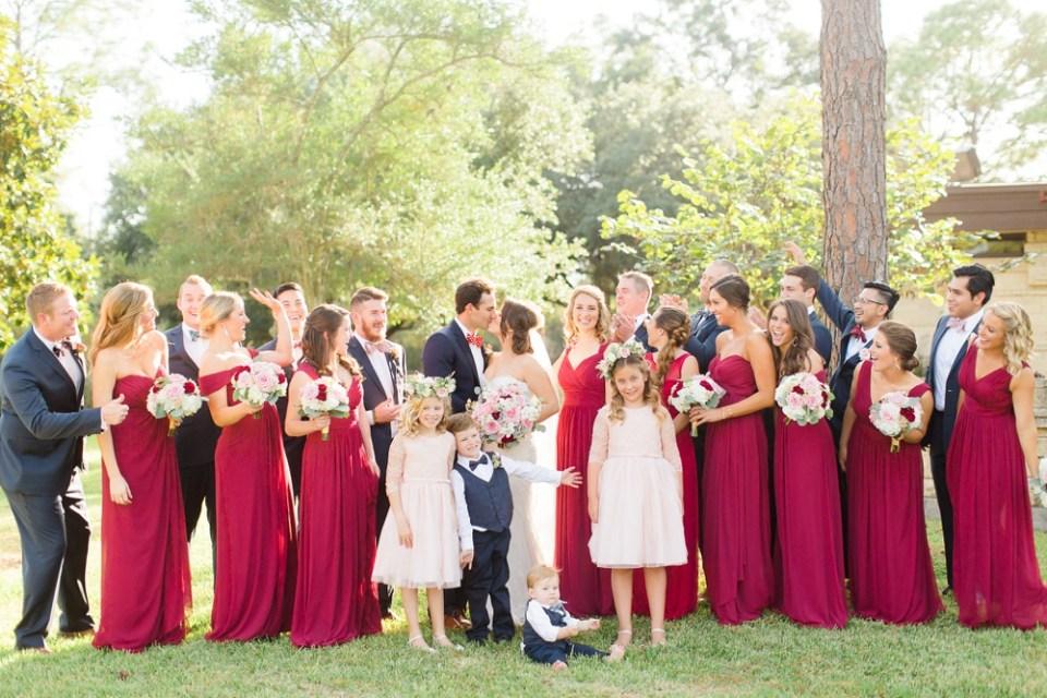 elegant southern wedding deep red dresses