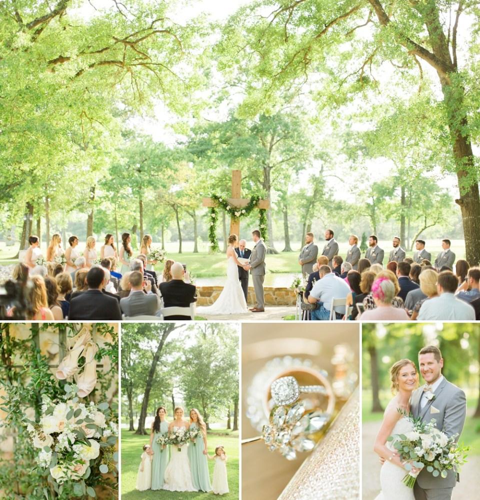 ceremony outdoor wedding at Balmorhea Events
