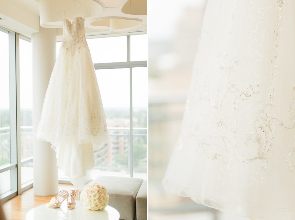Westin Woodlands wedding bridal suite