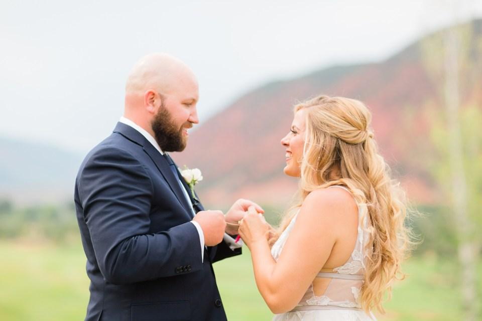 exchanging vows colorado wedding